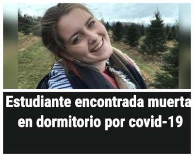 Estudiante con COVID-19 encontrada muerta en dormitorio
