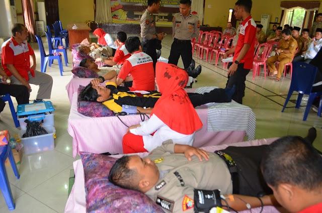 Meriahkan HUT Bhayangkara, Polres Musi Rawas Adakan Kegiatan Donor Darah