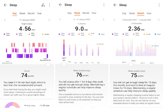 Patty Villegas - The Lifestyle Wanderer - Huawei - Band - 4 - Wearables - Sleep - data - stats