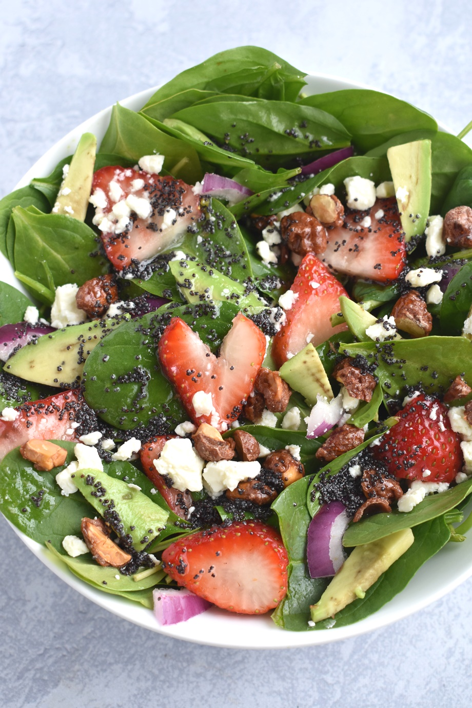 Strawberry Spinach salad poppy seed dressing