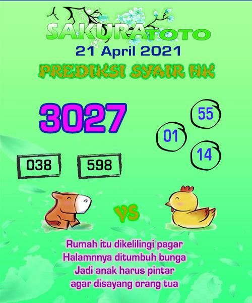 Syair HK Rabu 21 April 2021 -