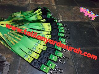 Pusat cetak tali lanyard digital printing full colour