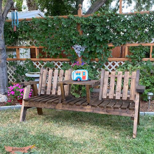 Sentimental Wooden Tete-A-Tete Bench Transformation
