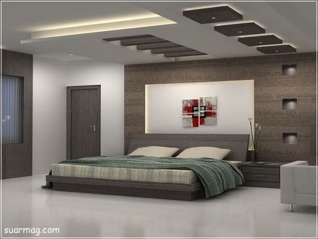 اسقف جبس بورد حديثة غرف نوم 4   Bedrooms Modern Gypsum Ceiling 4