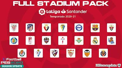 PES 2020 La Liga Santander Stadium Pack 2020/2021