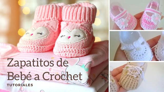 5 Modelos Únicos de Zapatitos de Bebé a Crochet