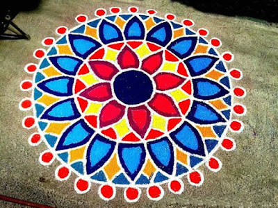 Happy New Year Simple Rangoli Design images