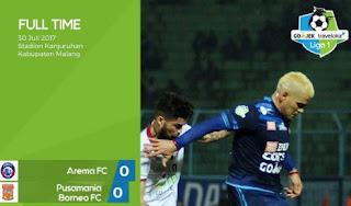 Arema vs Borneo Imbang 0-0 di Kanjuruhan Malang