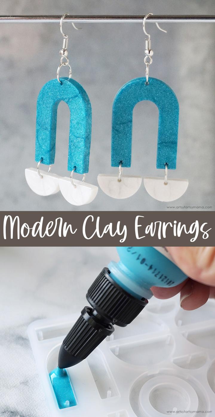 Modern Clay Earrings
