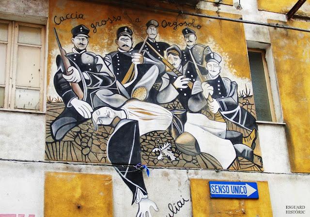 Mural caça bandit Orgosolo