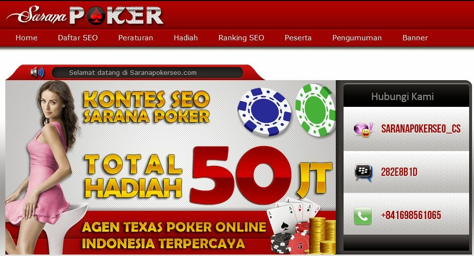 SaranaPoker.com Agen Texas Poker Dan Domino Online