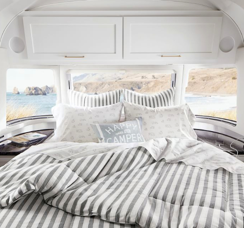 Gray Striped Comforter Airstream Collection Pottery Barn