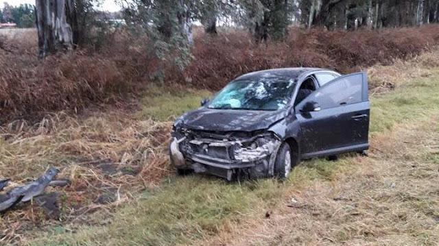 Despistó y colisionó un automóvil en Justiniano Posse