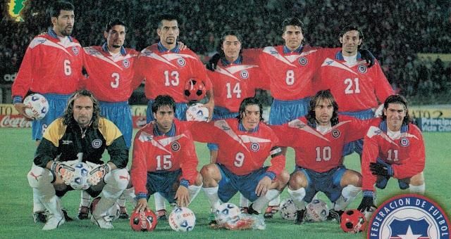 Formación de Chile ante Ecuador, amistoso disputado el 23 de junio de 1999