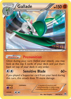 Gallade BREAKthrough Pokemon Card