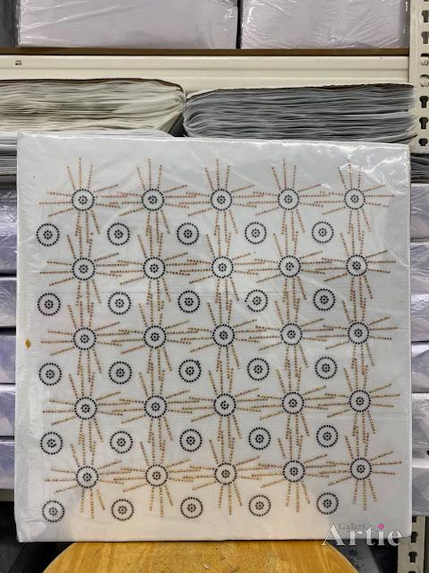 Hotfix stickers dmc rhinestone aplikasi tudung bawal fabrik pakaian bulatan 3 line hitam gold