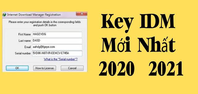 Chia sẻ Key IDM Mới Nhất 2020 hoat động 100%