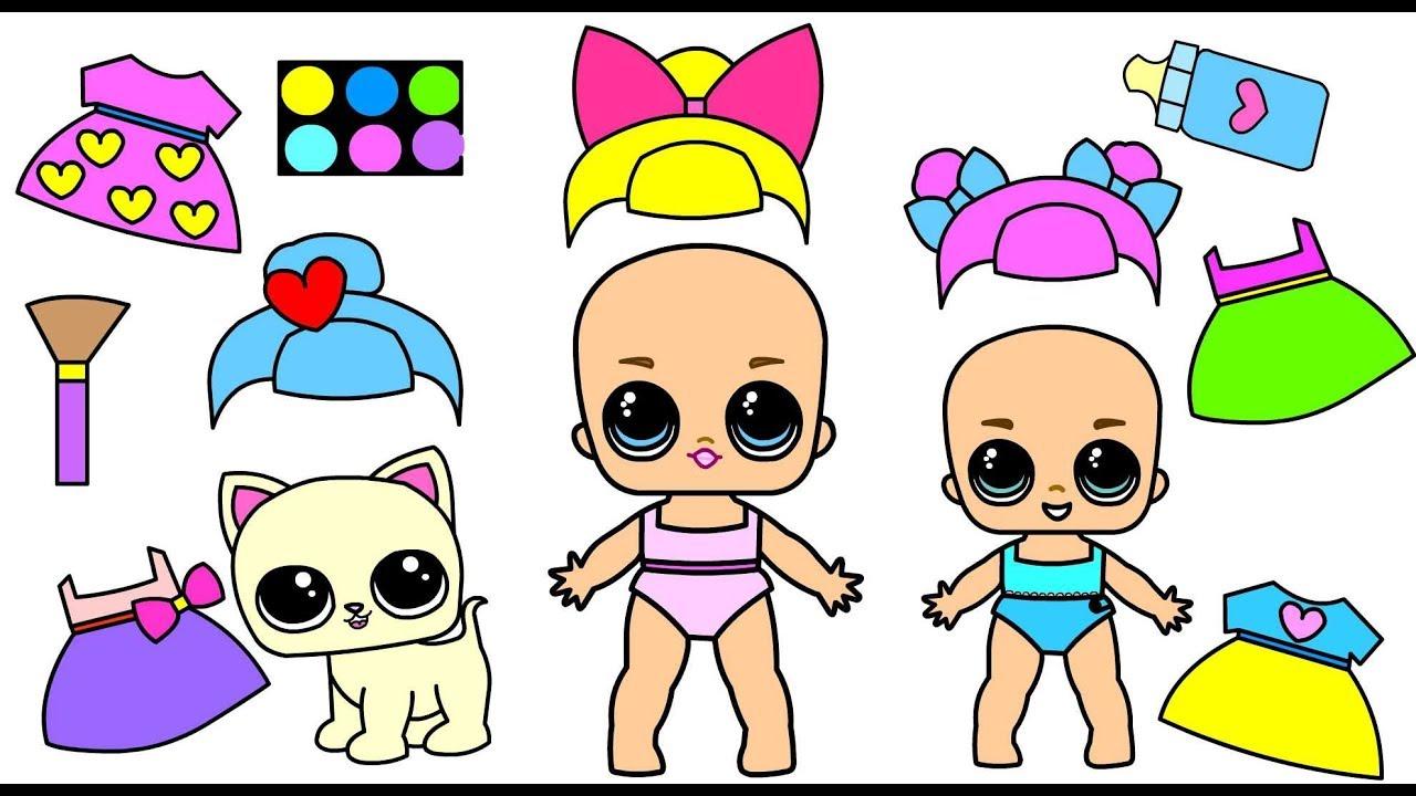 Бумажные куклы ЛОЛ (L.O.L. Surprise)