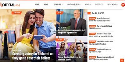 Giao diện Official Magazine (Original) Premium Blogger
