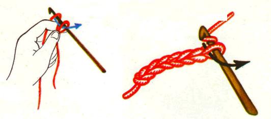 Цепочка из воздушных петель крючком