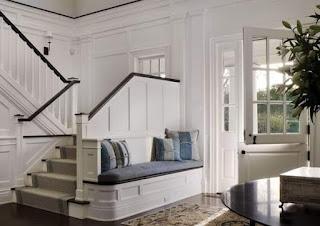 ديكور منزل بسيط ، ديكور جدار الدرج الداخلي
