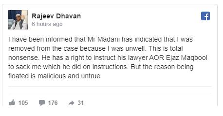 Rajeev Dhavan Advocate Facebook Post  02