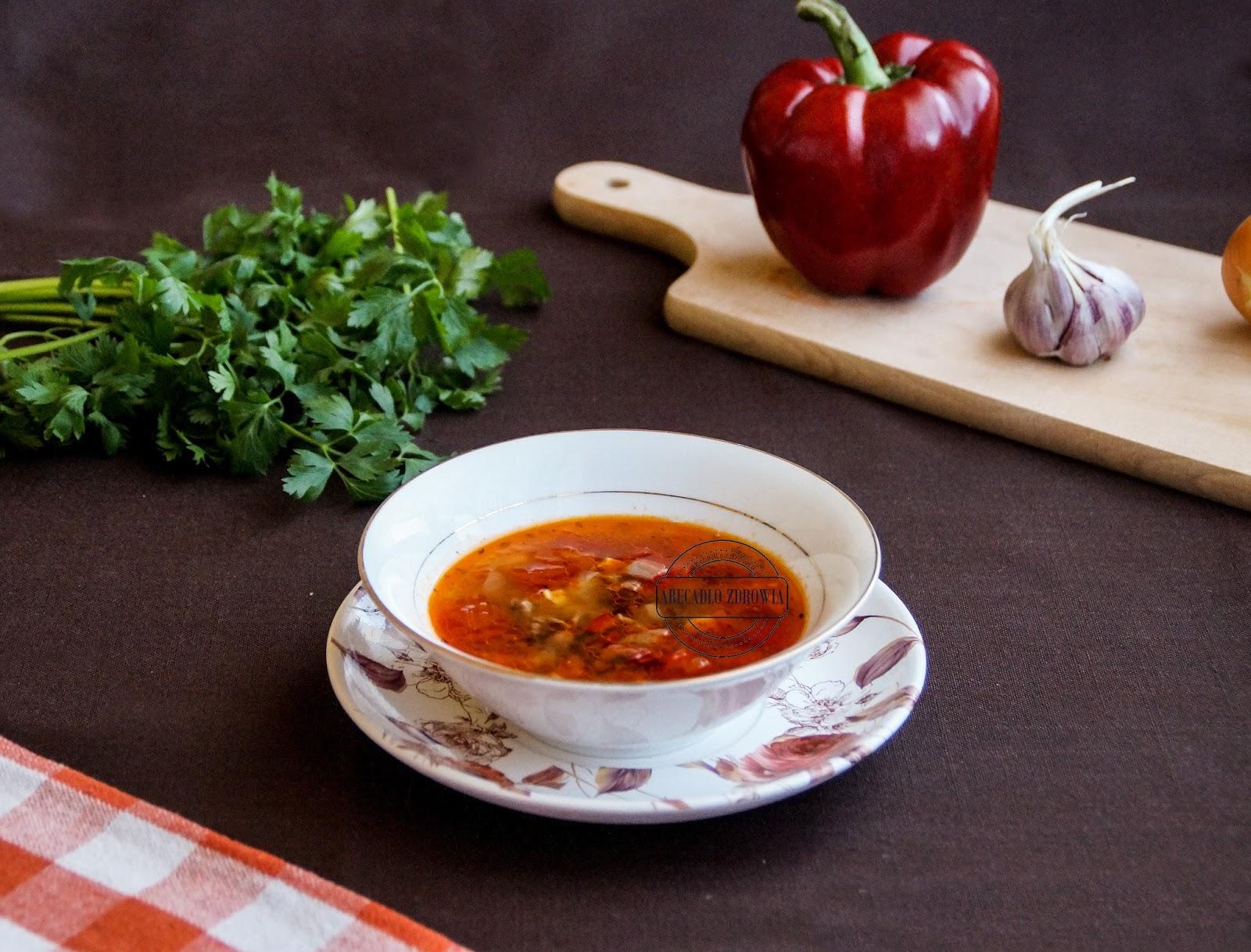 Meksykanska Ostra Zupa Chili Con Carne Z Czerwona Fasola Abecadlo