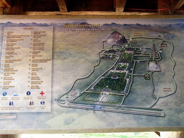 map bai dinh ninh binh vietnam