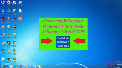 Menghilangkan, hapus, Tulisan, Test Mode, Windows 7, Build 7601, win 7, tutorial pc