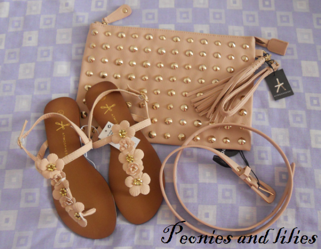 Primark haul, Primark haul march 2013, Primark studded clutch, Primark sandals, Primark belt