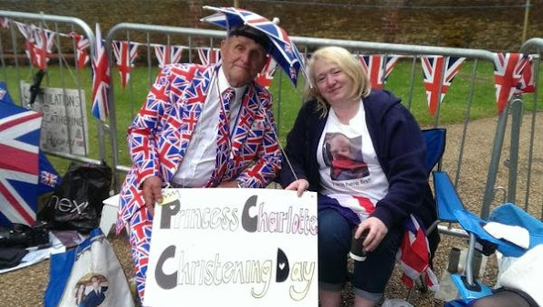 Crowds have already started to build in Sandringham more than six hours before the christening happens