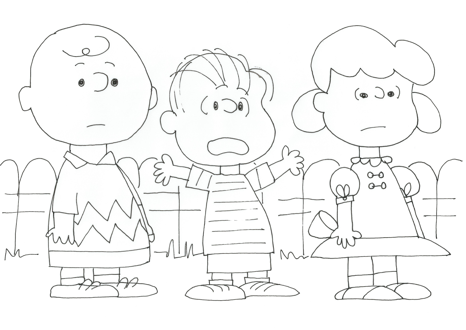 Linus Charlie Brown Christmas Coloring Pages Linus Best