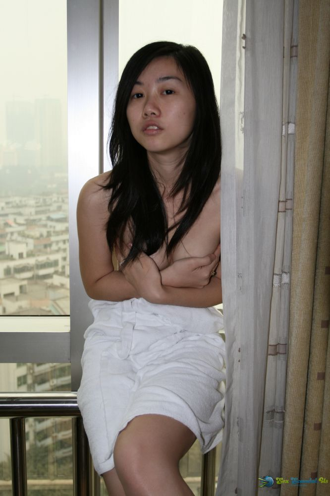 Naked asian cutie uniform