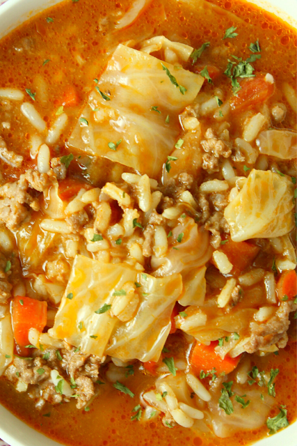 Best Ever Cabbage Roll Soup Recipe