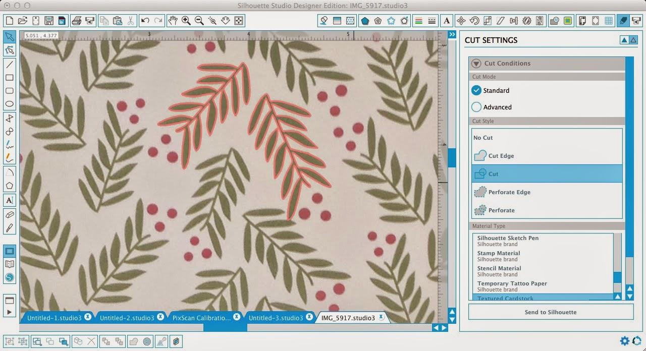 Silhouette Pixscan, beginner, tutorial, Silhouette Studio, cut lines