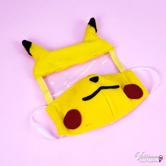 faca você mesmo  mascara de tecido pikachu