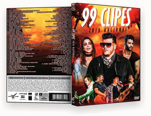 CAPA DVD – 99 Clipes Nacionais – ISO