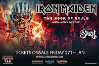 "Iron Maiden ""Book of Souls Tour"" 2017 with Ghost at Chicago's Hollywood Casino Amphitheatre"