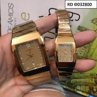 Đồng hồ cặp đôi Rado mặt vuông RD Đ032800