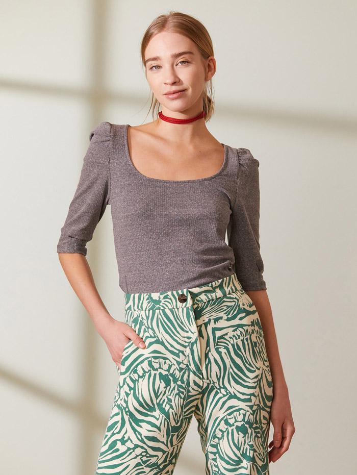 remeras mangas tres cuarto moda mujer primavera verano 2021