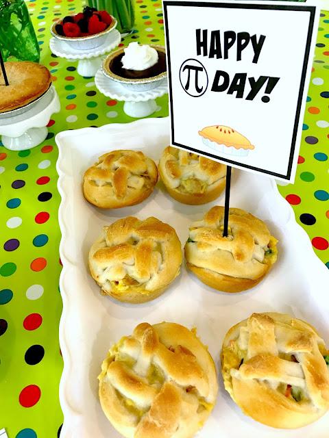 Chicken pot pies for Pi Day @michellepaigeblogs.com