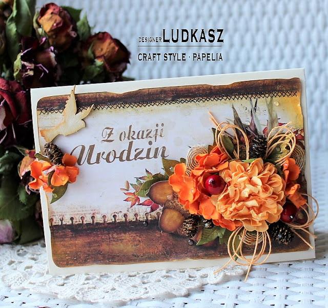 Jesienna kartka urodzinowa -DT Craft Style