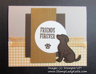 Dog Card made with Stampin'UP!'s Happy Tails Stamp set and Dog Builder Punch