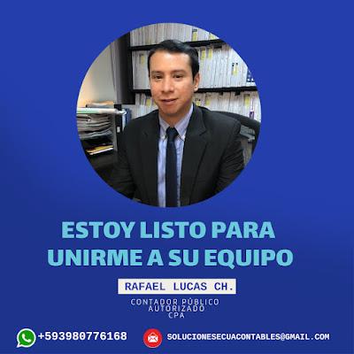 Ing. Rafael Lucas Chancay, CPA - Ingeniero en Contabilidad y finanzas