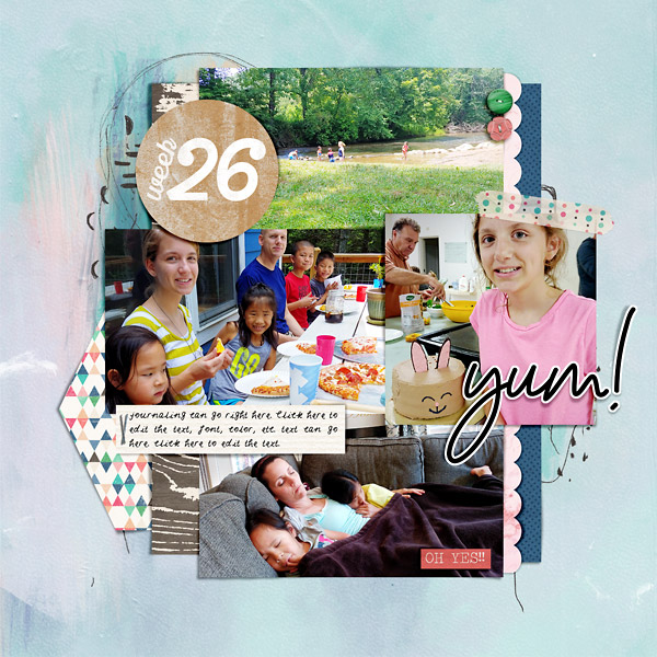 Summer Digital Scrapbook Page