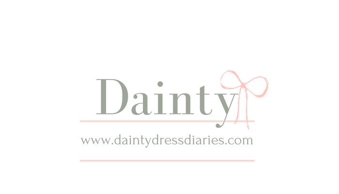 The dainty dress diaries