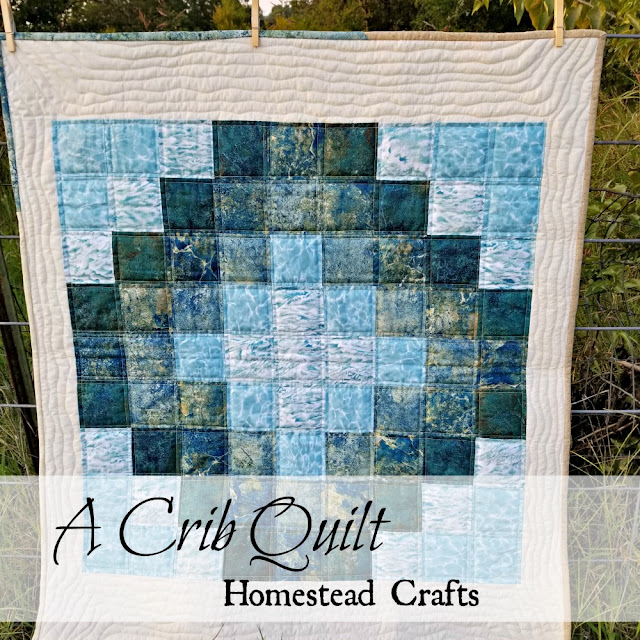 I enjoy making crib quilts and praying for the baby and family as I stitch.