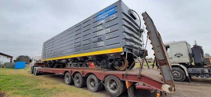 Llegaron a Sorrento vagones cerealeros reacondicionados por COOTTAJ
