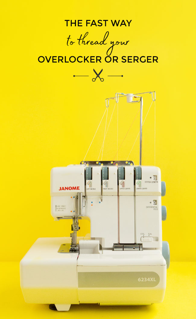 The fast way to thread your overlocker or serger - Tilly and the Buttons