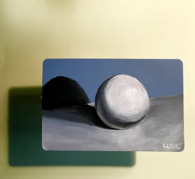 #36 Shadow mini painting of a sphere